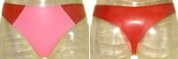 Sofort Lieferbar - Latex Damen String - ROT & BUBBLEGUM PINK - Gr. S
