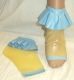 Latex Ankle Socks with Frills - bare toes