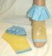 Latex Rüschen Socken - vorn offen