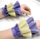Latex Rüschen Hand Manschetten, zweifarbig
