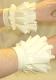 Latex Rüschen Handmanschetten, einfarbig