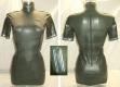 Latex Military Kleid mit Applikationen
